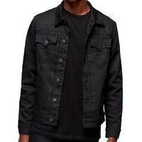 True Religion Men's Dylan Renegade Denim Jean Jacket in Black Nightfall