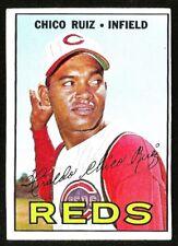 1967 Topps BASEBALL #339 CHICO RUIZ EXMINT+ CINCINNATI REDS  (001)