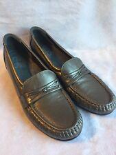 SAS Tripad Comfort Women's Shoes Sz 7.5S Silver Gray Slip On Loafers Fashion