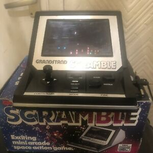 Vintage Grandstand Scramble Electronic Arcade Game, with Box 1982