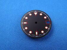 Blank Wrist Watch Dial -Black- 26.5mm Fit For ETA 2824 -Super Light Dots-  #305