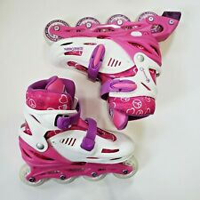 3-6 Youth Girls Adjustable Size Inline Skates RD Roller Derby Harmony Pink 76mm