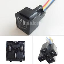 12V 40A 5-Pin SPDT Relay Socket Wire Car Fog Light Daytime Running Lamp Retrofit