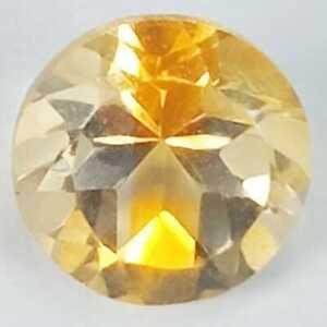 1.30 Cts Natural Golden Yellow Round Cut Citrine Gemstone Madagascar