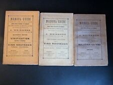 WEINMANN Manuel Guide Vins 3 T COMPLET OENOLOGIE ALCOOL VIGNE CHAMPAGNE 1911-23