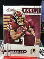 2020 Panini Absolute Rookie Materials Antonio Gibson Patch Redskins RC
