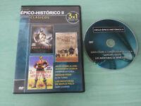 JULIO CESAR + GENGHIS KHAN + LAS AVENTURAS DE MARCO POLO DVD SLIM 3 PELICULAS
