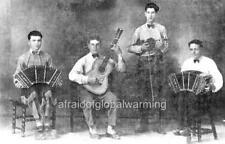 Photo. 1920s. Junin, Argentina.  Quartet - Accordian, Guitar, Violin, Bandoneon