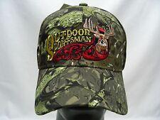 OUTDOOR SPORTSMAN - CAMOUFLAGE - ADJUSTABLE BALL CAP HAT!