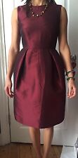 Iris & Ink Burgundi Taffeta Dress UK 8