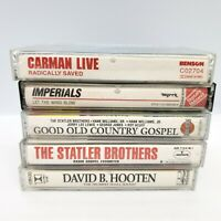 5 Christian Music Cassette Tape Lot Gospel Carman Imperials Statler Brothers
