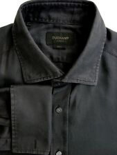 DUCHAMP LONDON Shirt Mens 17 L Black SLIM FIT