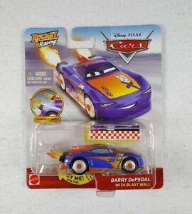 New Disney Pixar CARS Rocket Racing Barry DePedal w/ Blast Wall - Free Shipping!