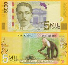 Costa Rica 5000 Colones p-276b 2012 (Serie B) UNC Banknote
