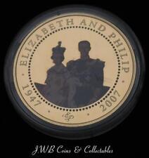 2007 Cook Islands Proof $1 One Dollar Coin Elizabeth & Philip.