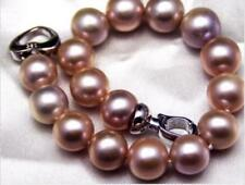 "genuine round lavender pearl bracelet Gorgeous huge 7.5-8""13-15mm south sea"