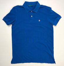 United Colors Of Benetton Men's Polo Shirt Adult Size Medium Blue Short Sleeve