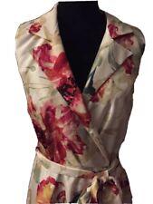 Wardrobe Faux Wrap Floral Dress With Belt Retro Bloom Size 18