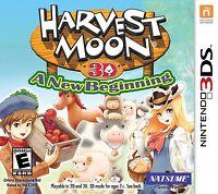 Harvest Moon 3D: A New Beginning [Nintendo 3DS, Natsume, Farming Life RPG] NEW