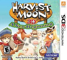 Harvest Moon 3D: A New Beginning [Nintendo 3DS, Natsume, Farming Life RPG] NEW