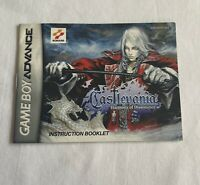 Nintendo Gameboy Advance Castlevania: Harmony Of Dissonance MANUAL ONLY! GBA