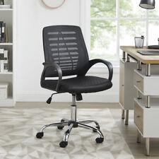 Computer Office Chair Black Mesh Fabric Ergonomic Adjustable Swivel Desk Chairs