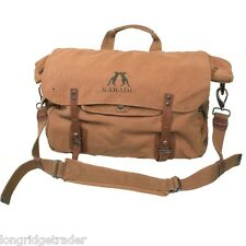 mens kakadu large shoulder bag tobacco travel carry on luggage camping sport