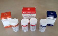 100 strips Set of 3 Accu-Answer Isaw Test Strips Cholester Hemoglob Urine Acid