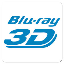 Blu-ray 3D Disc, Blue on White Gloss, Roll of 1,000 Stickers