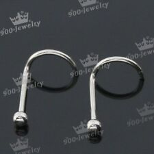 10pcs Lot 22G Stainless Steel Twist Nose Ring Stud Nostril Body Piercing Jewelry