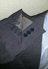 Bespoke Gray Lightweight wool Suit Surgeon Cuff Blazer Jacket 46L Pants 38 X 33