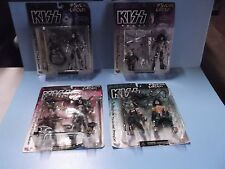 """4 Kiss Psycho Circus 7""""in Creepy Figures 1996 McFarlane Toy's Complete Band"""