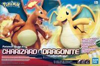 Bandai Pokemon Plamo #43 Charizard & Dragonite Figure Model Kit US Box Free Ship