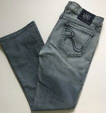 Rock /& Republic Patch Work Slim Boyfriend Cropped Crop Jeans Light Wash NWT $88