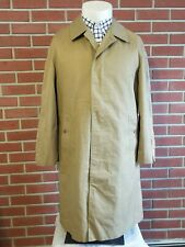 Burberrys Vintage Mens 40 Long Tan Trench Coat 1980s 1990s Cotton Polyester USA
