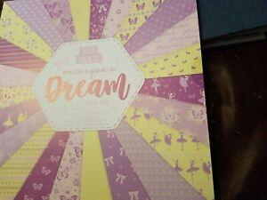 BN Paper Addicts Once upon a Dream 12 x 12  paper pad. Ballet, bows, butterflies