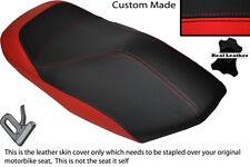Negro Y Rojo Custom Fits Yamaha Yp 125 Majestad 00-03 Frontal De Cuero Funda De Asiento