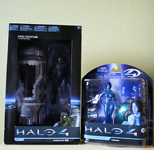 NEW HALO 4 Series 1 DELUXE FIGURE UNSC CRYOTUBE with MASTER CHIEF & CORTANA