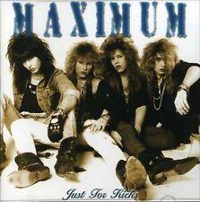 """MAXIMUM - """"Just for Kicks"""" CD, Hair Metal, Glam, Hard Rock, (Recorded in 1989)"""