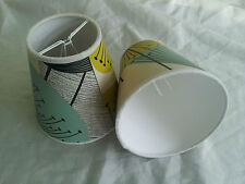 "2 x 5"" CANDLE SHADES made from SANDERSON dandelion clocks WALLPAPER"