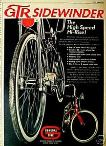 1969 GTR Sidewinder High 3 Speed Hi~Rise Bicycle~Banana Seat Bike Promo Print Ad