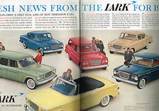 PUBLICITE ADVERTISING    1959   USA  STUDEBAKER  LARK   ( 2 pages)