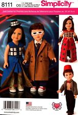 """Simplicity Sewing Pattern 8111 Dolls Clothes Doctor Who 18""""  NEW"""