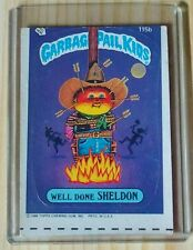 Garbage Pail Kids Orig. Series 115b Well Done Sheldon , Rare Miscut Error Card