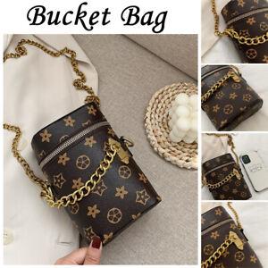 Womens Bucket Bag Designer Bags Pu Leather Ladie Crossbody Tote Satchel Handbags