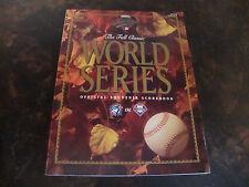 1993 World Series Program---Phillies/Blue Jays---Both Scorecards Unused