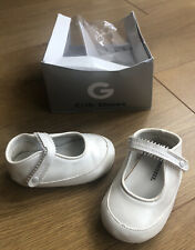 Gymboree Crib Shoes Baby White/ivory Stiff Manmade 9-12 Months