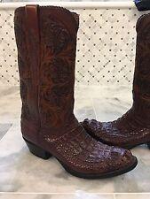 Lucchese Custom Gator Boots Caiman Crocodile $3,500 Retail! 9.5 D Rare!!