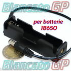 PORTA BATTERIA 18650 CON CONNETTORE SPINA 2.1 HOLDER CONTENITORE CELLA LITIO