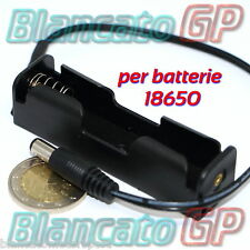 PORTA BATTERIA 18650 CON CONNETTORE SPINA  2.1 HOLDER CONTENITORE CELLA LITIO